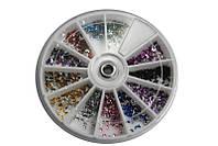 Стразы-полумесяц разноцветные, большие камни YRE KMK-06, дизайн ногтей стразами