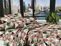 Евро комплект постельного белья 200*220 ЭКОНОМ (16879) Бязь хлопок_полиэстер