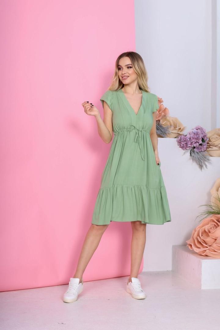 Женское платье, штапель, р-р 42; 44; 46; 48 (оливковый)