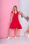 Женское платье, штапель, р-р 42; 44; 46; 48 (красный), фото 4