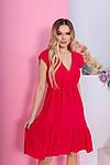 Женское платье, штапель, р-р 42; 44; 46; 48 (красный), фото 3