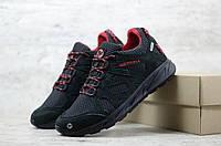Мужские кроссовки из нубука Черные с красным Merrell