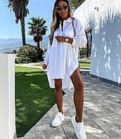 Женская стильная рубашка с удлиненной спинкой, фото 1