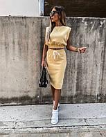 Женский стильный костюм блузка и юбка, фото 1