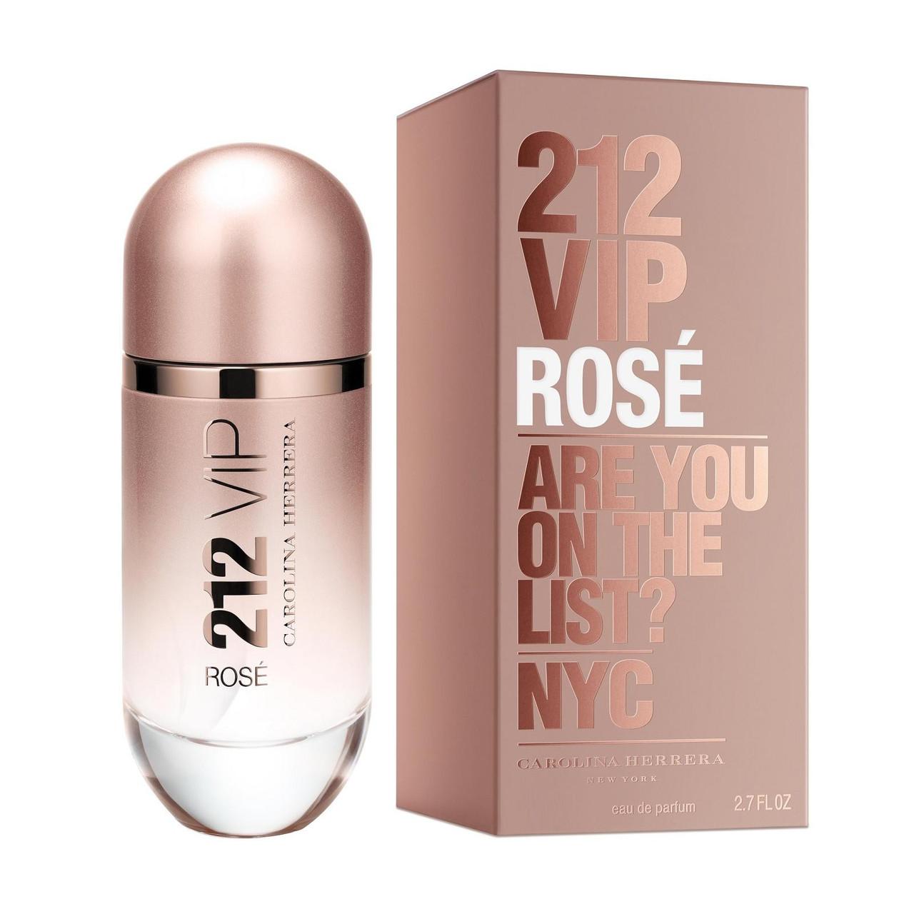 Жіноча парфумована вода Carolina Herrera 212 Vip Rose (Кароліна Херера 212 Віп Роуз) 80 мл