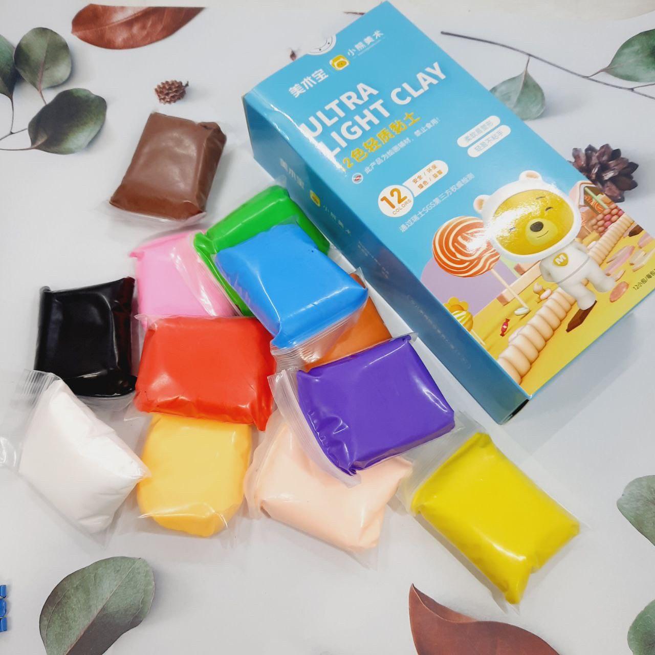 Легкий для ліплення пластилін 12 кольорів