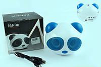 Аудиосистема 2.0 PANDA (бело-синяя, АКБ, FM/МР3/SD/USB/AUX)