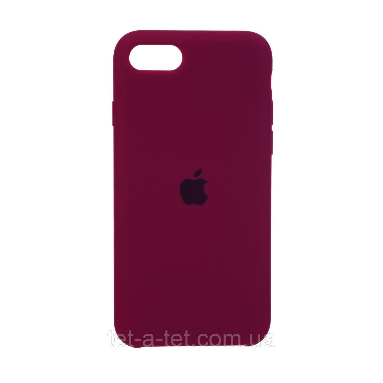 Чехол Silicone Case Original for Apple iPhone 7/8/SE 2020 (HC) - Marsala