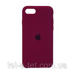 Чохол Silicone Case Original for Apple iPhone 7/8/SE 2020 (HC) - Marsala