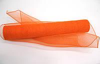 Флористическая сетка оранжевая для упаковки цветов и подарков FKA