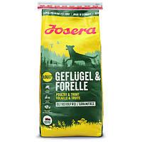 Сухий корм Josera Dog Geflugel & Forelle беззерновой високобілковий для дорослих собак (птах) 15кг