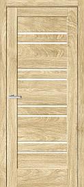 Двери межкомнатные ОмиС Рино 01 стекло сатин Эко шпон Natural Look (NL), NL дуб Саванна, 800