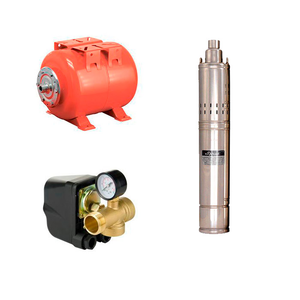 Свердловинні електронасоси Sprut К-т 4S QGD 1,8-50-0,55 + НТ24 + Комплект автоматики (80мм)