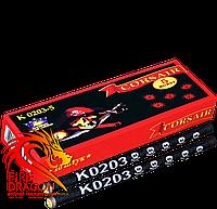 Петарды К0203-5 5 выстрелов 10 штук в упаковке