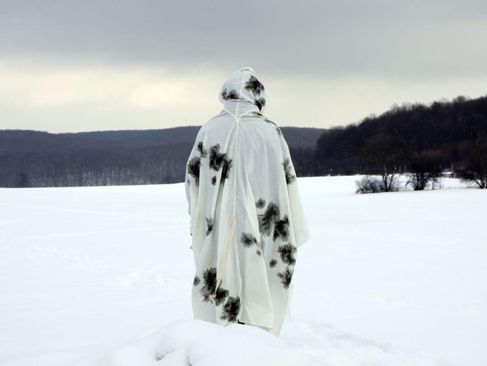Маскхалат Снежный Пончо плащ палатка Бундесвера 6341 (01335)