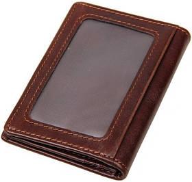 Визитница Vintage 14450 с отделением для карточек Коричневая
