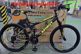 ⭐✅ Двопідвісний Велосипед Azimut Race 26 D+ Рама 18 ЧОРНО-ЖОВТИЙ