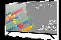 "Большой телевизор Ergo 56"" Smart-TV//DVB-T2/USB адаптивный UHD,4K/Android 9.0"