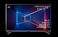 "Телевізор Sharp 58"" Smart-TV/DVB-T2/USB Android 7.0 4К/UHD, фото 1"