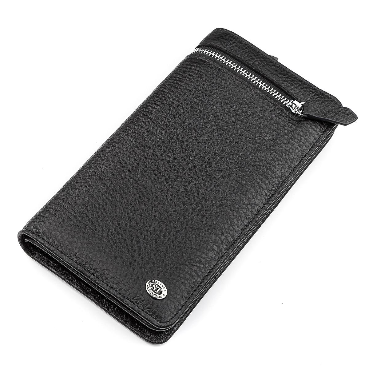 Мужской кошелек ST Leather 18444 (ST291) натуральная кожа Черный