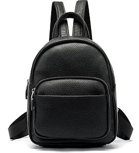 Рюкзак компактный женский Vintage 20053 Черный