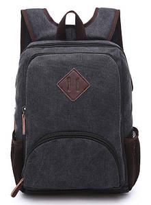 Рюкзак текстильный Vintage 20074 Черный