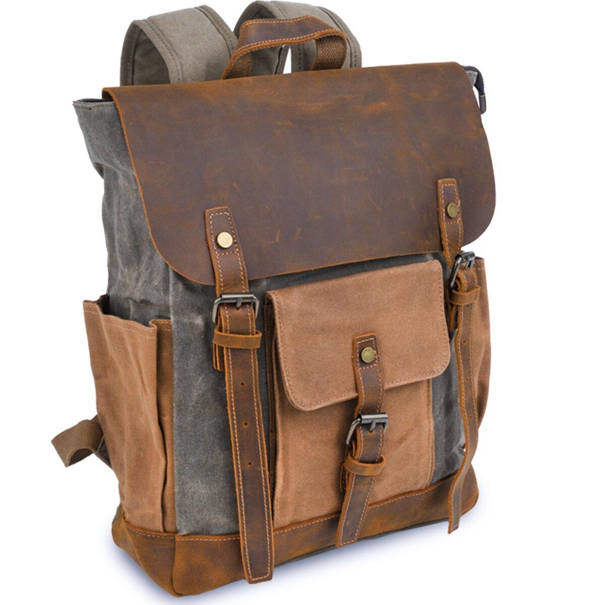Рюкзак комбінований дорожній Vintage 20113 Сірий