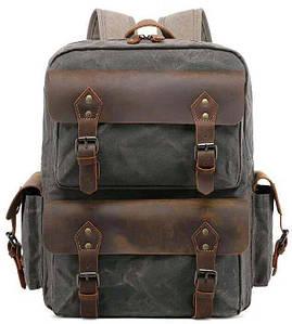 Туристический рюкзак canvas Vintage 20107 Болотный