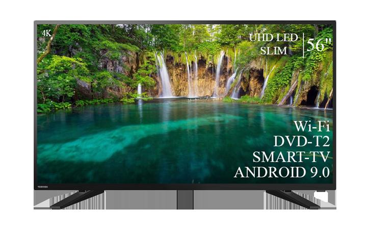 "Телевізор Toshiba 56"" Smart-TV/DVB-T2/USB АДАПТИВНИЙ UHD,4K/Android 9.0"