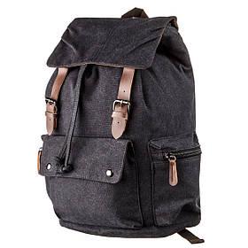 Рюкзак текстильный походный Vintage 20135 Черный