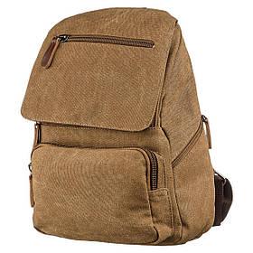 Компактный женский текстильный рюкзак Vintage 20196 Коричневый