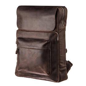 Рюкзак большой в коже Crazy horse Shvigel 15307 Коричневый