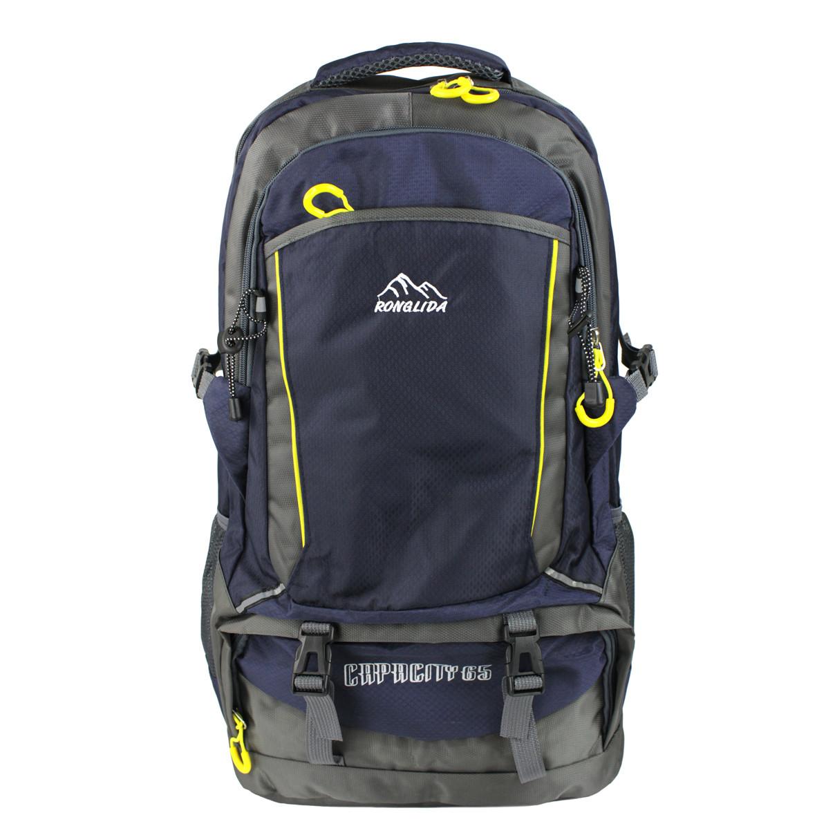 Рюкзак туристичний похідний темно-синій текстиль 65 л