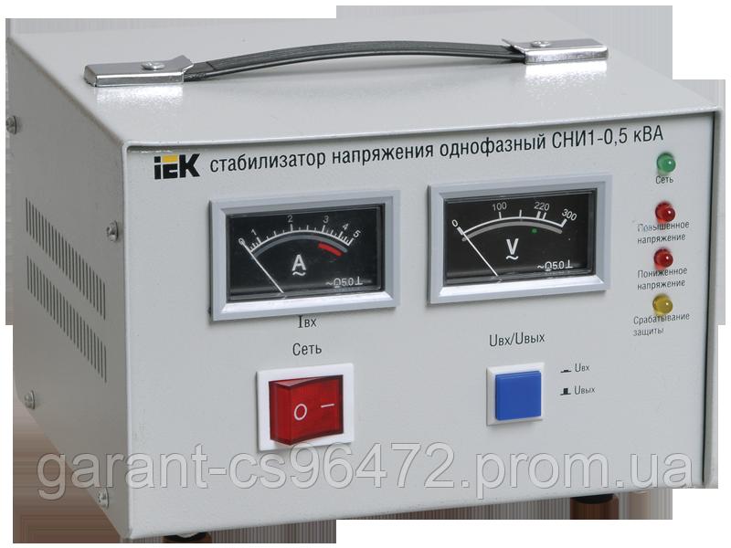 Стабілізатор напруги СНИ1-2 кВА ел-механ. однофазний IEK