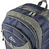 Рюкзак туристичний похідний синій-сірий текстиль 70л, фото 4