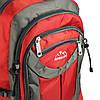 Рюкзак туристичний похідний текстиль червоний, 70л, фото 5