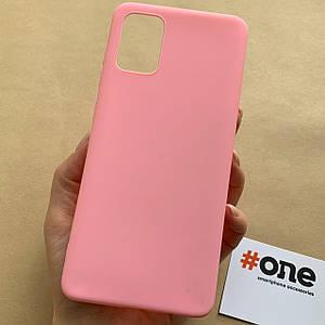 Чехол для Samsung Galaxy A71 цветной яркий плотный чехол на хуавей самсунг а71 розовый Plain