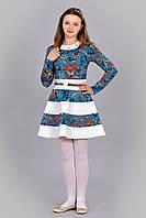 Волшебное детское платье с длинным рукавом из  искусственным тисненной кожей