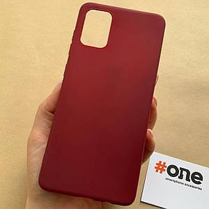 Чехол для Samsung Galaxy A71 цветной яркий плотный чехол на хуавей самсунг а71 бордовый Plain
