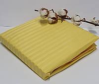 Простинь на резинке AE Cotton 160x200 + наволочки Желтая