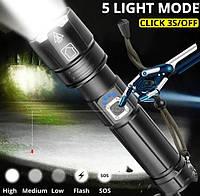 Мощный фонарь с зумом BL-L6-P90