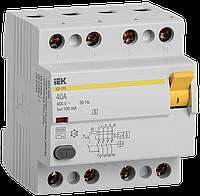 ПЗВ (пристрій захисн. відкл.) ВД1-63S 4Р 40А 100мА селект. IEK