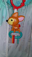 Іграшка підвіска оленя, Брязкальце-підвіска KK2689 / 2691