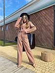 Жіночий костюм, костюмка класу люкс, р-р 42-44; 44-46 (коричневий), фото 2