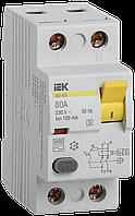 ПЗВ (пристрій захисн. відкл.) ВД1-63S 2Р 80А 100мА селект. IEK