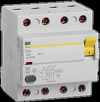 ПЗВ (пристрій захисн. відкл.) ВД1-63 4Р 25А 10мА тип А IEK