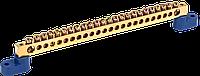 """Шина N """"нуль"""" на двох кутових ізол СТАЙНІ-8х12-24-У2-C IEK"""