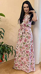 Сукня летня довга з квітковим принтом