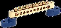 """Шина N """"нуль"""" на двох кутових ізол ШНИ-8х12-10-У2-C IEK"""