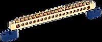 """Шина N """"нуль"""" на двох кутових ізол СТАЙНІ-8х12-20-У2-C IEK"""